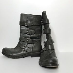 SO Boots Size 9 M Buckle Detail Side Zipper 11""